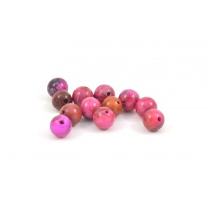 PIERRE RONDE 6MM CRAZY LACE AGATE FUSCHIA
