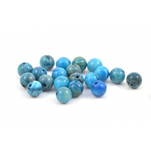 PIERRE RONDE 6MM CRAZY LACE AGATE BLEU