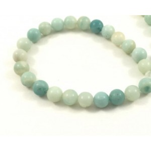 Pierre ronde 8mm amazonite (corde)