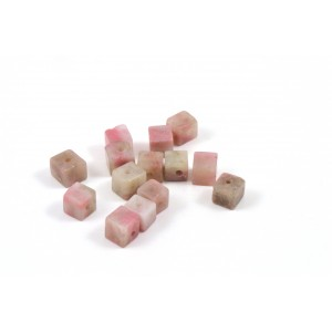 PIERRE CUBE 4MM RHODONITE