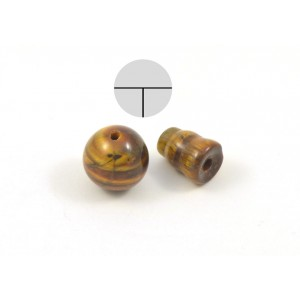 Bead 3 holes and cone tiger eye