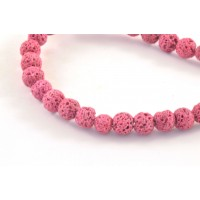 LAVA ROCK 6MM BEAD PINK COLOR