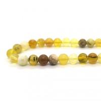 Pierre ronde 6mm Opale jaune (corde)