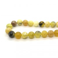 Round bead 8mm yellow Opal (strand)