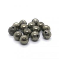 Pierre ronde 8mm Pyrite