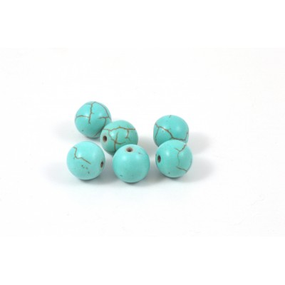 PIERRE RONDE 10MM TURQUOISE