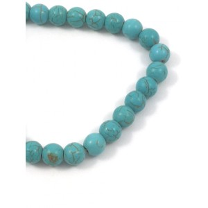 PIERRE RONDE 8MM TURQUOISE