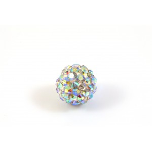 PAVE BEAD,10MM CRYSTAL CLEAR AB