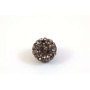 BILLE PAVE 10MM GRIS ET BLACK DIAMOND