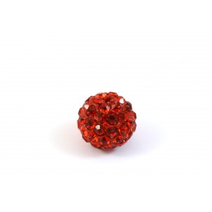 BILLE PAVE 10MM ROUGE