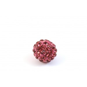 BILLE PAVE 10MM ROSE
