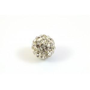 PAVE BEAD 10MM, CRYSTAL CLEAR