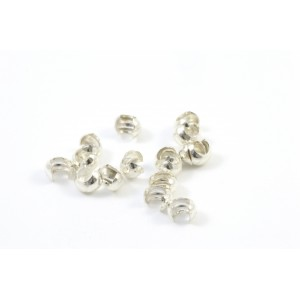 3MM STERLING SILVER .925 CRIMP BEADS COVER