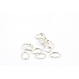 6MM OVAL JUMPRING STERLING SILVER .925