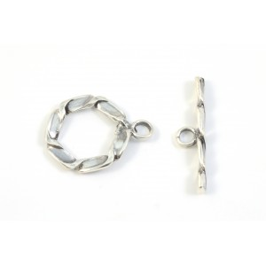 TOGGLE CLASP 14MM STERLING SILVER