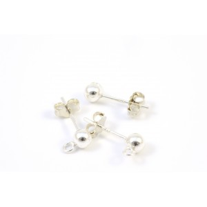 PIN OREILLE 4MM ARGENT STERLING .925