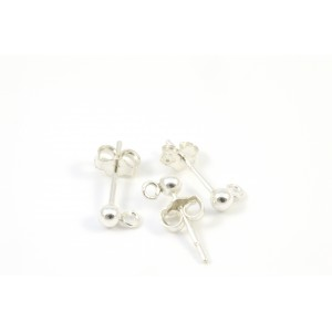 PIN OREILLE 3MM ARGENT STERLING .925