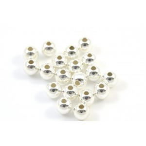4MM BEAD ROUND STERLING SILVER .925