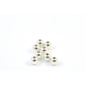 3MM BEAD ROUND STERLING SILVER .925
