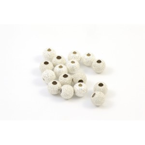 4MM BEAD ROUND STARDUST STERLING SILVER .925