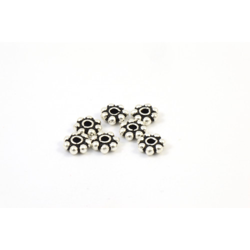 ANTIQUE STERLING SILVER .925 BALI BEAD DAISY 5X1MM