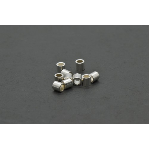 Bille tube à écraser 2mm argent sterling .925