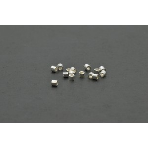 Bille mini tube à écraser 1mm argent sterling .925