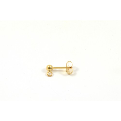 PIN OREILLE 3MM GOLD-FILLED