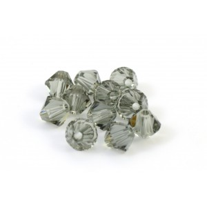 BICONE SWAROVSKI (5328) 6MM BLACK DIAMOND