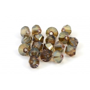 BICONE SWAROVSKI (5328) 4MM CRYSTAL BRONZE SHADE
