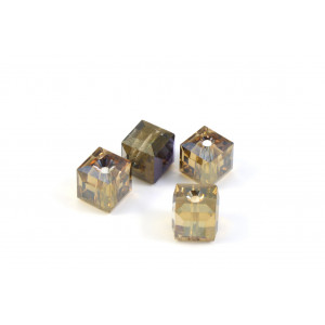 CUBE SWAROVSKI (5601) 6MM CRYSTAL BRONZE SHADE