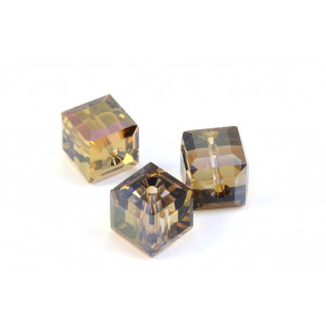 CUBE SWAROVSKI (5601) 8MM CRYSTAL BRONZE SHADE