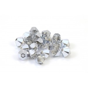 BICONE SWAROVSKI (5328) 8MM CRYSTAL COMET ARGENT LIGHT