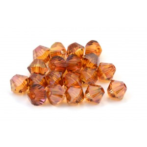 BICONE SWAROVSKI (5328) 3MM CRYSTAL COPPER