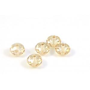 BRIOLETTE CRYSTAL SWAROVSKI (5040) 8MM CRYSTAL GOLDEN SHADOW
