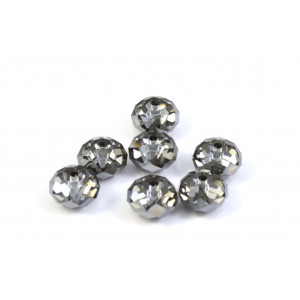 BRIOLETTE CRYSTAL SWAROVSKI (5040) 8MM CRYSTAL SILVER NIGHT
