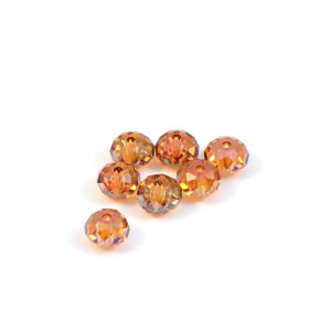 BRIOLETTE CRYSTAL SWAROVSKI (5040) 6MM CRYSTAL COPPER