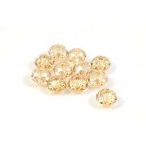 BRIOLETTE CRYSTAL SWAROVSKI (5040) 6MM CRYSTAL GOLDEN SHADOW