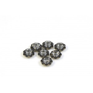 MARGUERITE CRYSTAL SWAROVSKI (3700) 6MM CRYSTAL SILVER NIGHT