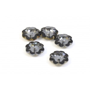 MARGUERITE CRYSTAL SWAROVSKI (3700) 10MM CRYSTAL SILVER NIGHT