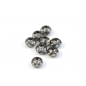 BRIOLETTE CRYSTAL SWAROVSKI (5040) 6MM CRYSTAL SILVER NIGHT