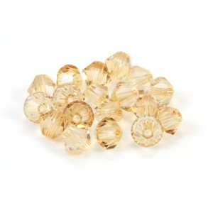 BICONE SWAROVSKI (5328) 8MM CRYSTAL GOLDEN SHADOW