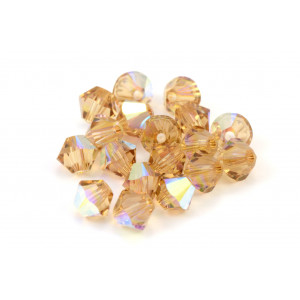 BICONE SWAROVSKI (5328) 4MM LIGHT COLORADO TOPAZ AB