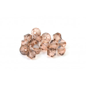 BICONE SWAROVSKI (5328) 4MM LIGHT PEACH SATIN