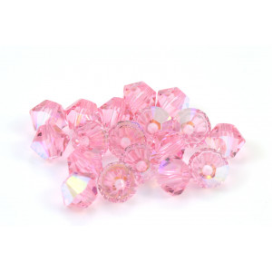 BICONE SWAROVSKI (5328) 8MM LIGHT ROSE AB