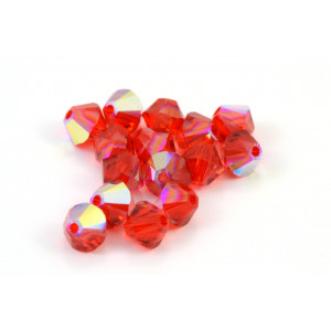 BICONE SWAROVSKI (5328) 4MM LIGHT SIAM AB