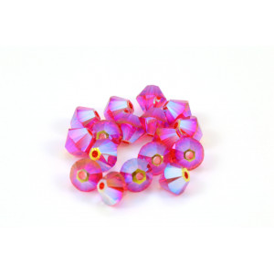 BICONE SWAROVSKI (5328) 4MM LIGHT SIAM 2XAB