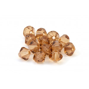 BICONE SWAROVSKI (5328) 4MM LIGHT SMOKE TOPAZ