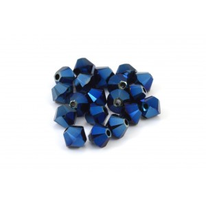 BICONE SWAROVSKI (5328) 3MM METALLIC BLUE 2XAB