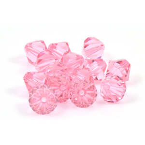 BICONE SWAROVSKI (5328) 8MM LIGHT ROSE